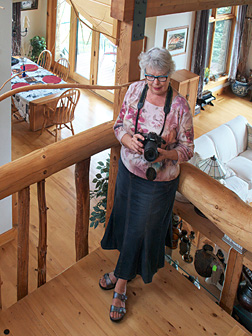 Phyllis Stokes at home